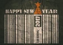 Feierkarte des neuen Jahres und des Weihnachten Glückliches neues Jahr-Text Stockfotografie