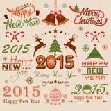 Feierkonzept der frohen Weihnachten und des neuen Jahres stock abbildung