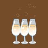 Feierliche Gläser von Champagne Lizenzfreies Stockfoto