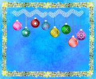 feierliche Karte des neuen Jahres und Weihnachts Stockfotografie