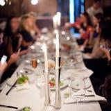 Feierliche Tabelle. Stockfotos