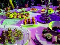 Feierliche Tabelle Lizenzfreies Stockfoto
