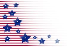 Feierlicher Hintergrund für Unabhängigkeitstag und und Patriot-Tag der Vereinigten Staaten von Amerika Vektor lizenzfreie abbildung