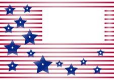 Feierlicher Hintergrund mit Rahmen für Ihren Text für Unabhängigkeitstag und Patriot-Tag der Vereinigten Staaten von Amerika Vekt vektor abbildung
