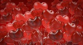 Feierlicher Hintergrund von roten Ballonen Lizenzfreie Abbildung