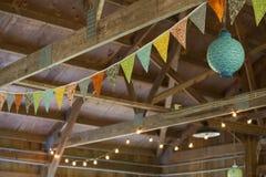 Feierlichter und -fahne Stockbilder