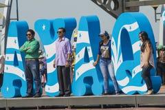 Feiern der Grundlage von Guayaquil, am 24. Juli Stockbild