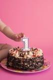 Feiern des ersten Geburtstages Stockfotografie