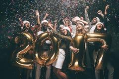Feiern des neuen Jahres lizenzfreies stockfoto
