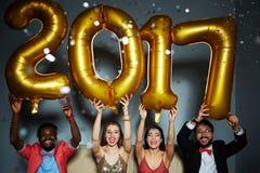 Feiern des neuen Jahres Lizenzfreie Stockfotografie