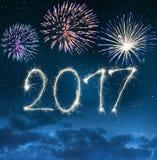 Feiern des neuen Jahres 2017 Lizenzfreie Stockfotos