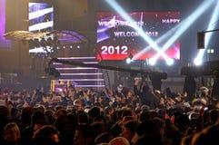 Feiern des neuen Jahres in Berlin, Deutschland Lizenzfreies Stockbild