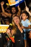 Feiern in Griechenland nach den Referendumergebnissen Lizenzfreies Stockfoto