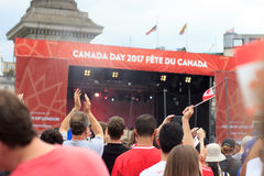 Feiern Kanada-Tag 2017 in London Stockfotos