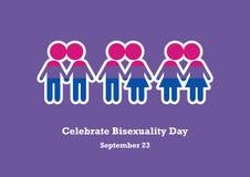 Feiern Sie Bisexuality-Tagesvektor Lizenzfreie Stockfotos