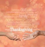 Feiern Sie Danksagung zusammen stockbild