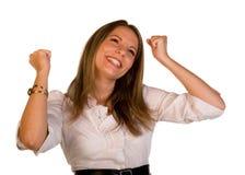 Feiern Sie Erfolg stockbild