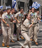 2015 feiern Sie Israel Parade in New York City Stockbilder