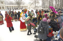 Feiern Sie Maslenitsa Lizenzfreies Stockfoto