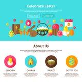 Feiern Sie Ostern-Webdesign Stockfotos
