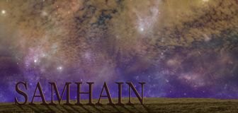 Feiern Sie Samhain-Sommer-Endenhintergrund stockfotografie