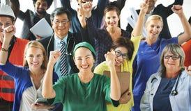 Feiern verschiedene Leute-des verschiedenen Besetzungs-Konzeptes stockfoto