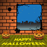 Feiern von Halloween Lizenzfreies Stockfoto