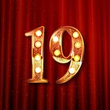 Feiern von 19 Jahren Jahrestag Lizenzfreies Stockbild