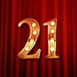 Feiern von 21 Jahren Jahrestag Lizenzfreies Stockfoto