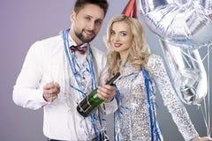 Feiern von neues Jahr ` s Eve Lizenzfreie Stockfotografie