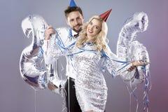 Feiern von neues Jahr ` s Eve Lizenzfreie Stockbilder