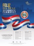 Feiern von Paraguay-Unabhängigkeitstag o lizenzfreie abbildung