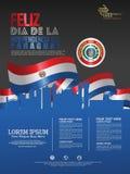Feiern von Paraguay-Unabhängigkeitstag o stock abbildung