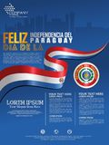 Feiern von Paraguay-Unabhängigkeitstag o vektor abbildung