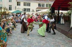 Feiern von Tagen die Mittelalter in Tallinn Lizenzfreie Stockfotografie