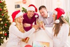 Feiern von Weihnachten oder von neuem Jahr Lizenzfreies Stockbild
