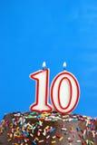 Feiern von zehn Jahren Stockbilder