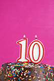 Feiern von zehn Jahren Lizenzfreie Stockbilder