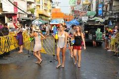 Thailändisches neues Jahr - Songkran Stockfotos