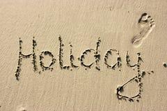 Feiertag auf Sand