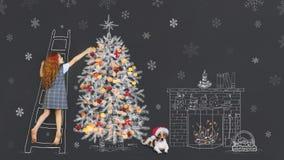 Feiertag der frohen Weihnachten für besten Freund lizenzfreie stockfotos