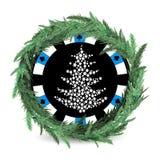 Feiertag des neuen Jahres und des Weihnachten ein Kasino vektor abbildung