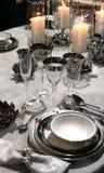 Feiertag eingestellt in klassische Art und in Kerzen Stockbild