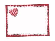 Feiertag empfindlich, Spitzen- Karte St Valentinsgruß-Tag stock abbildung