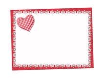 Feiertag empfindlich, Spitzen- Karte St Valentinsgruß-Tag lizenzfreie abbildung