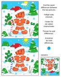 Feiertag finden das Unterschiedbildpuzzlespiel mit Ingwermann Stockfotografie