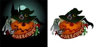 Feiertag Halloween - Kürbis und Spinne Stockbilder