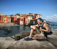 Feiertag in Ligurien stockfotos
