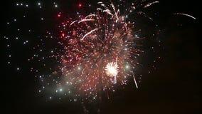 feiertag Nachtfeuerwerke stock video footage