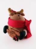 Feiertag Spielzeugschatulle ein Rotwild Lizenzfreies Stockfoto